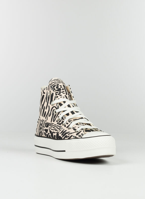 SCARPA JUNGLE ART PLATFORM CHUCK TAYLOR ALL STAR HIGH TOP, ROSEBLK, medium
