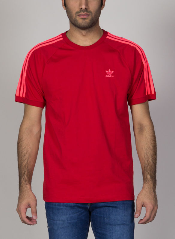 T-SHIRT 3-STRIPES, RED, medium