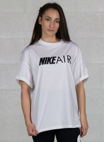 T-SHIRT AIR OVER LOGO, 100WHT, small