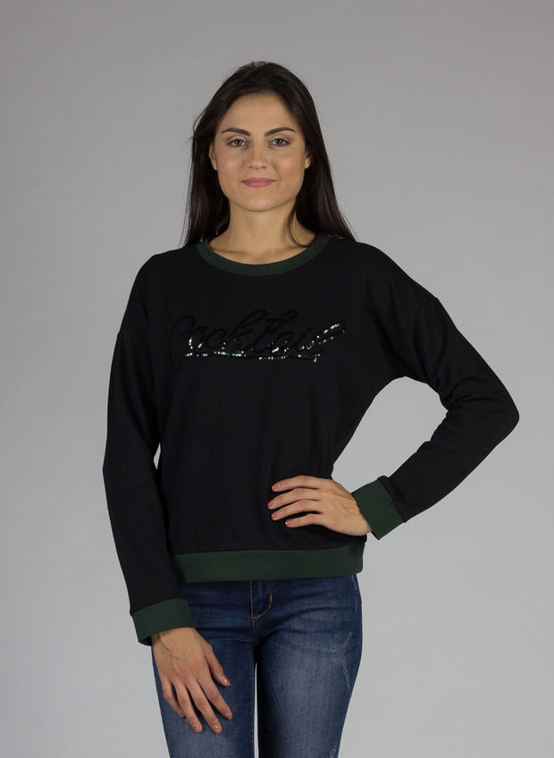 SWEATSHIRT SCOUP, NERO, large