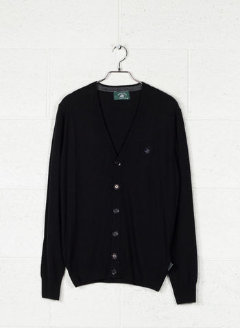 CARDIGAN BOTTONI MISTO CASHMERE, BLACK, small