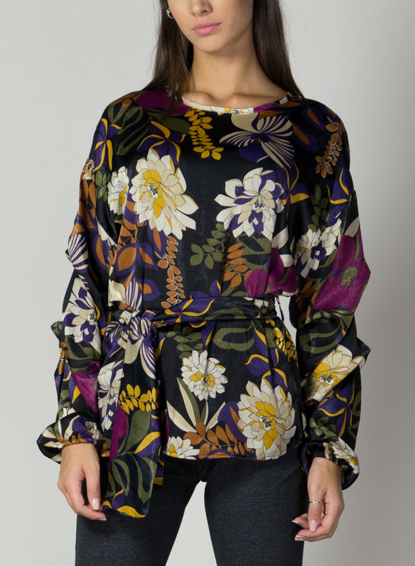 BLUSA FANTASIA FIORI, VIOLA, medium