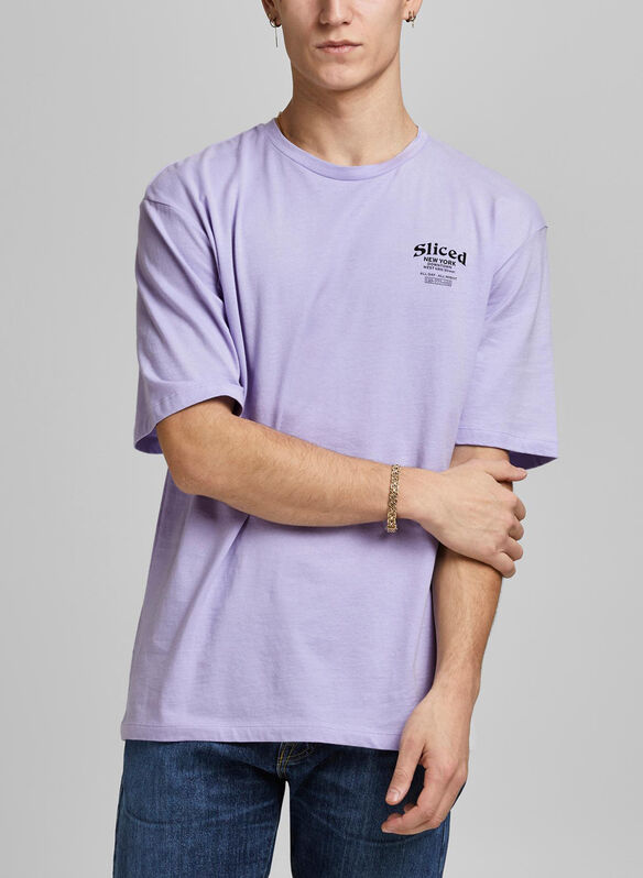 T-SHIRT STAMPA MINI, LAVENDER, medium