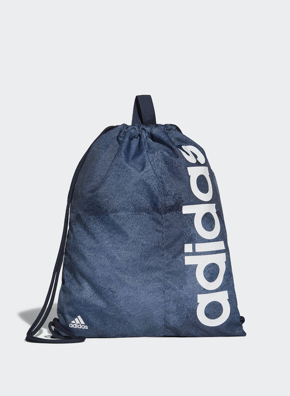 GYM SACK LINEAR PERFORMANCE, DENIM, medium