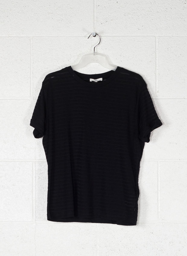 T-SHIRT STRIPE, 01BLK, large