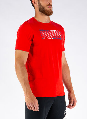 T-SHIRT ATHLETICS BIG LOGO, 11RED, small