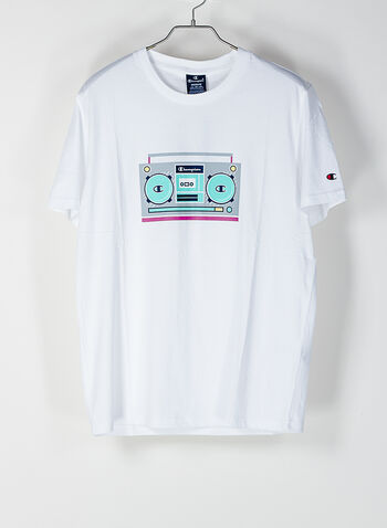 T-SHIRT GRAPHIC SHOP, WW001WHT, small
