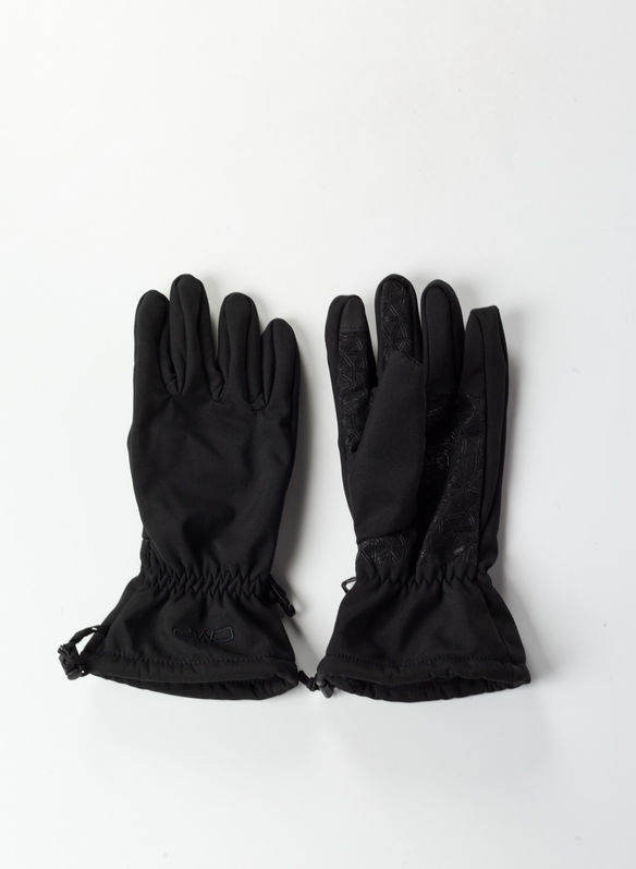 GUANTO IN SOFTSHELL TOUCH FINGER, U901BLK, medium
