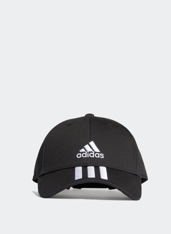 CAPPELLO VISIERA 3 STRIPES, BLK, medium