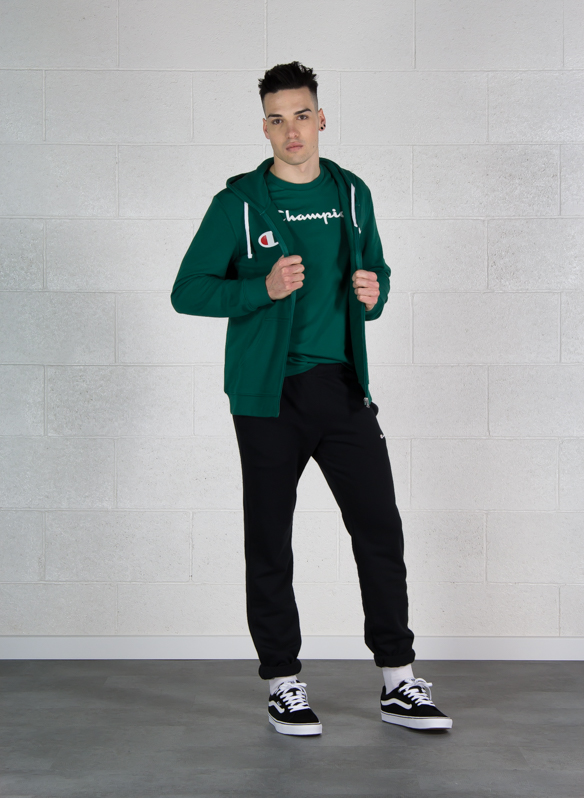 FELPA CL FULL ZIP CAPP BIG LOGO, GS524GREEN, large
