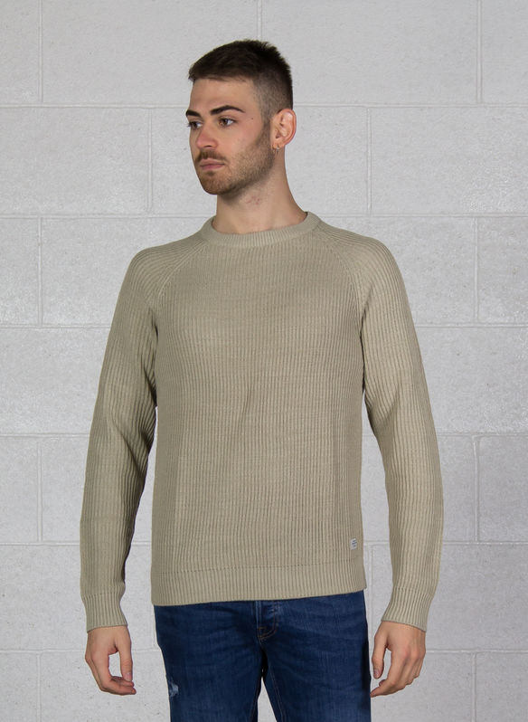 MAGLIONE PANNEL COSTE, FEATHER GREY, medium