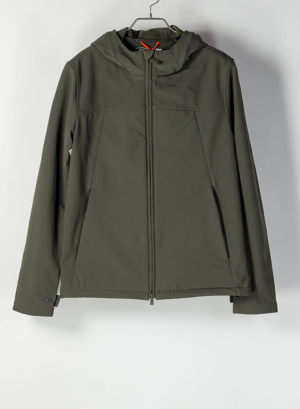 GIACCA SOFTSHELL CON CAPPUCCIO FULL ZIP, 461XXP IVY GREEN, medium