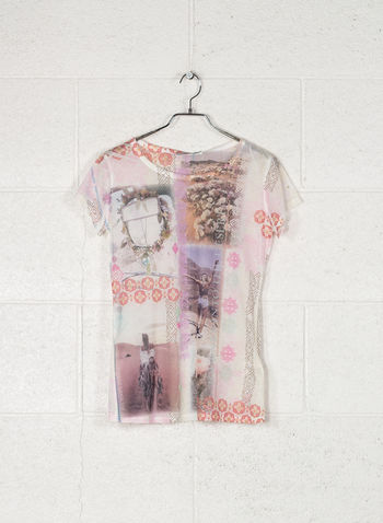T-SHIRT STAMPA, 2406ROSA ANTICO, small