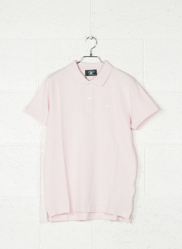 POLO STRECH PIQUET, PINK, large