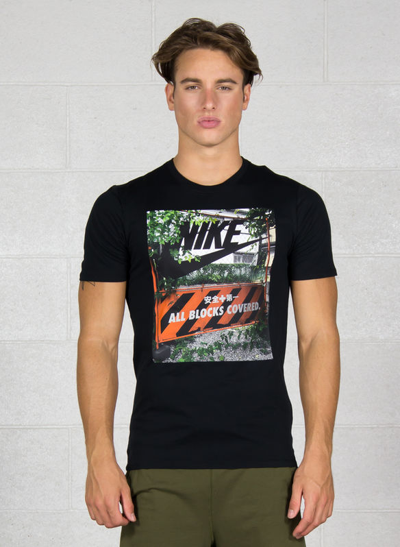 T-SHIRT GRAPHIC, 010BLK, medium