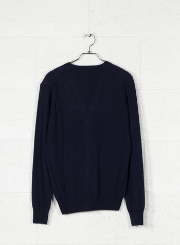 CARDIGAN BOTTONI MISTO CASHMERE, BLUE, small