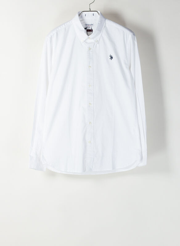 CAMICIA CALE OXFORD, 100WHT, medium