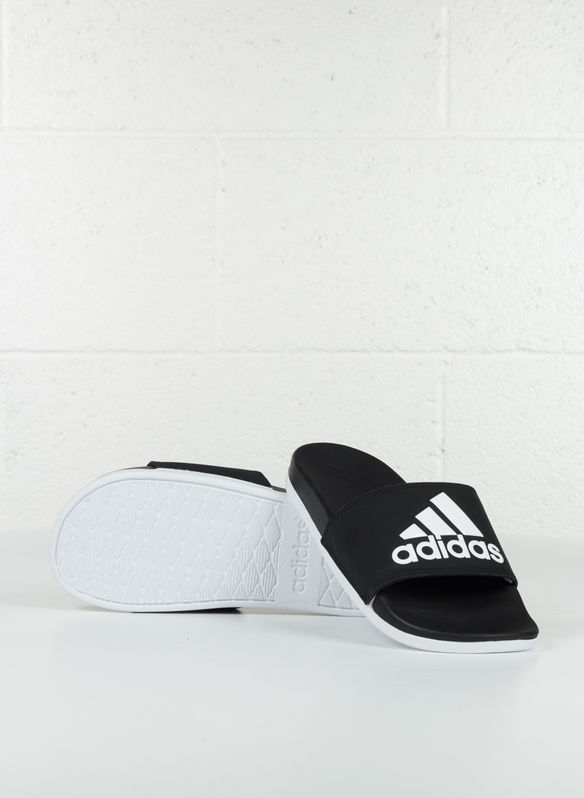 CIABATTE ADILETTE CLOUDFOAM PLUS LOGO, BLKWHT, medium