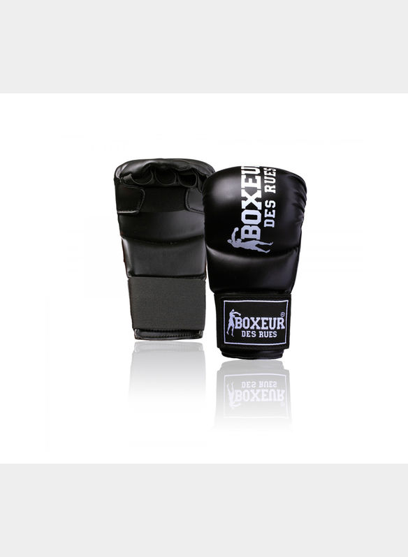 KARATE & FIT-BOXING GLOVES BLACK, BLKWHT, medium