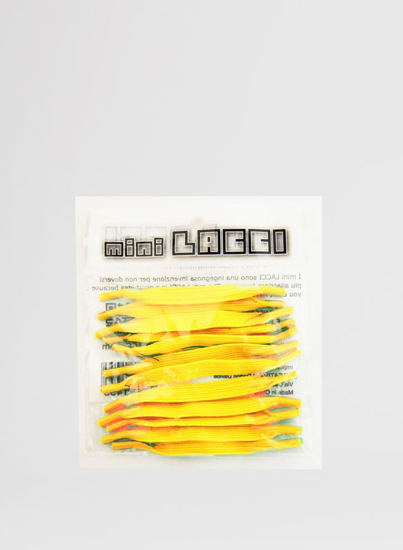 MINI LACCI ELASTICI CONF.12 PZ, GIALLO, medium