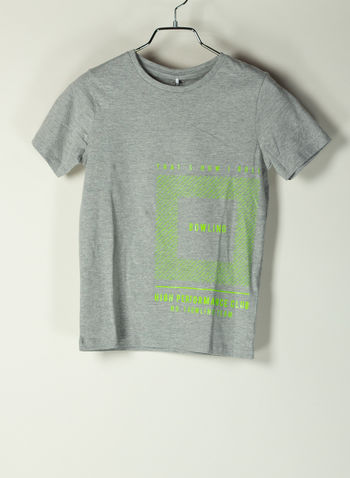 T-SHIRT PRINTED TROELS, GREY MEL, small