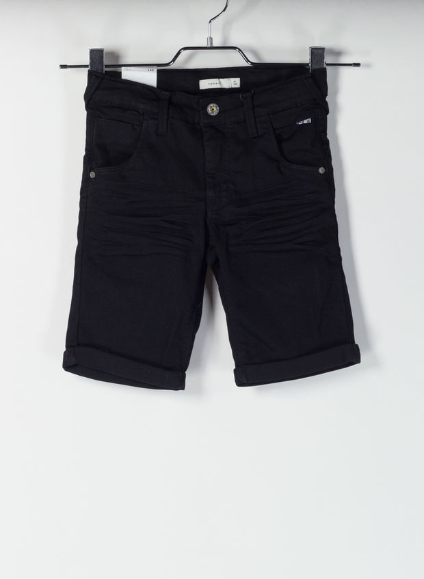 SHORT DENIM SUPER STRETCH, BLACK, large