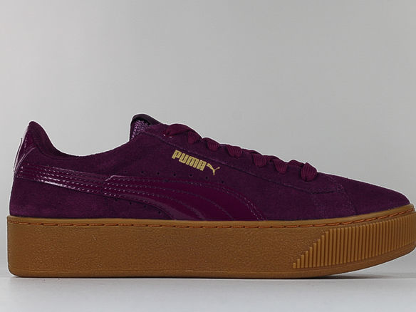 SCARPA VIKKY PLATFORM SUEDE LOW, PURPLE, medium