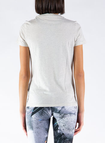 T-SHIRT LOGO SLIM, PANNA, small