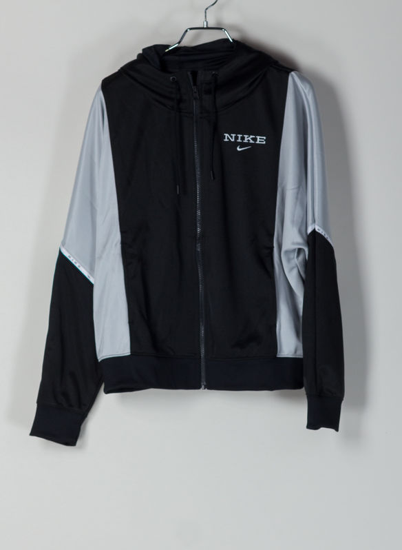 FELPA LOGO TAPE FULL ZIP, 011BLKGREY, medium