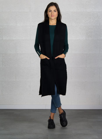 CARDIGAN MAXI, NERO, small