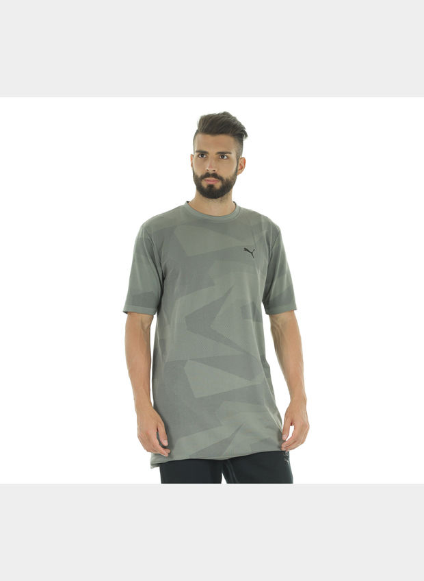 T-SHIRT EVOKNIT DRY , 004GREY, large