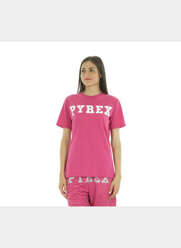 T-SHIRT BIG LOGO , FUXIA, large