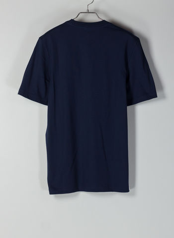 T-SHIRT ESSENTIALS LINEAR LOGO, NVY, small