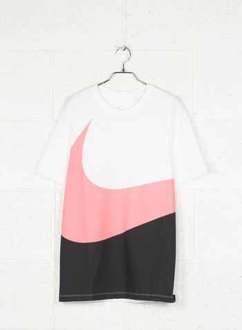 T-SHIRT SWOOSH BIG, 104WHTBLKPINK, small