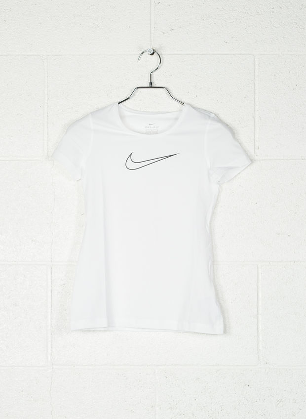 T-SHIRT SWOOSH RAGAZZA, 100WHT, large