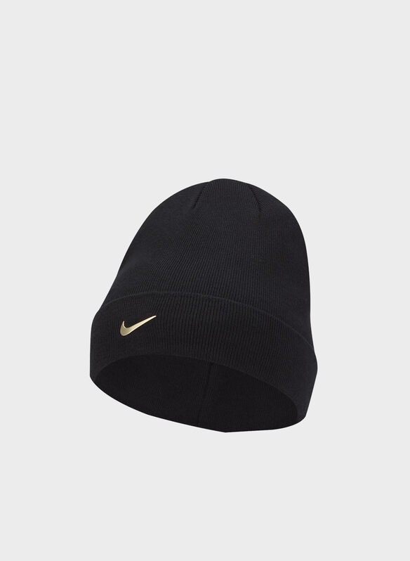 CAPPELLO LOGO SWOOSH, 011BLKGOLD, medium