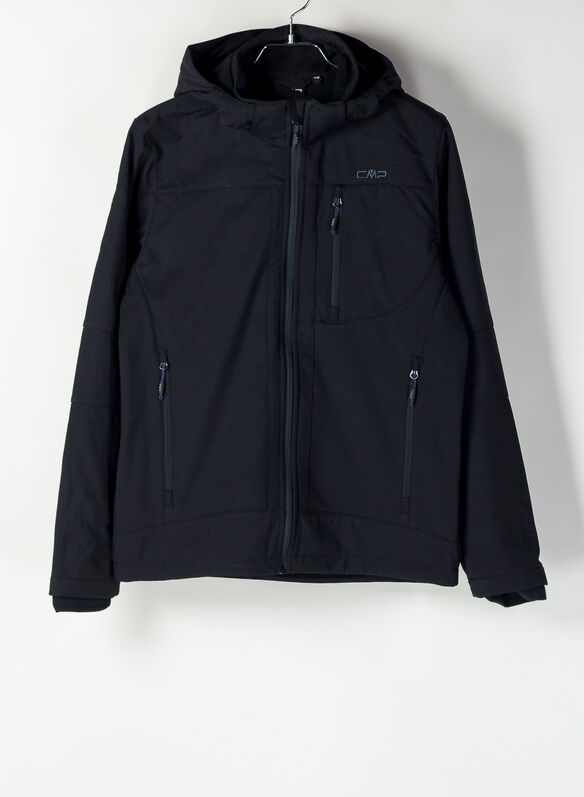 MUTINO JACKET ZIP HOOD SOFTSHELL, U901 BLK, medium