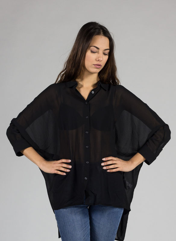 BLOUSE NOISY, NERO, medium
