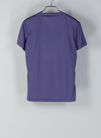 T-SHIRT DESIGNED 2 MOVE SOLID, PURPLE, small