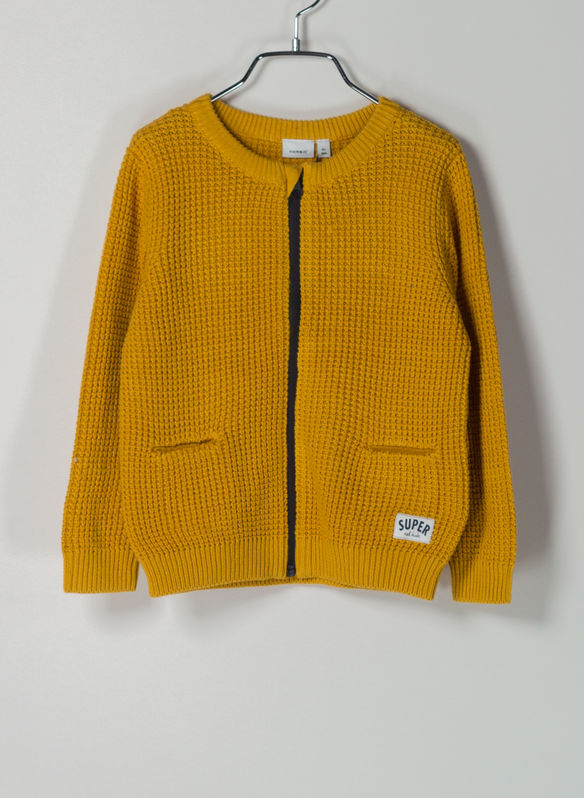 CARDIGAN CHUNKY, GOLDEN, medium