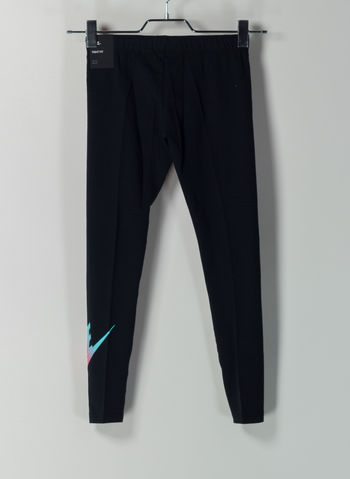 LEGGINGS SPORTSWEAR RAGAZZA, 010BLK, small