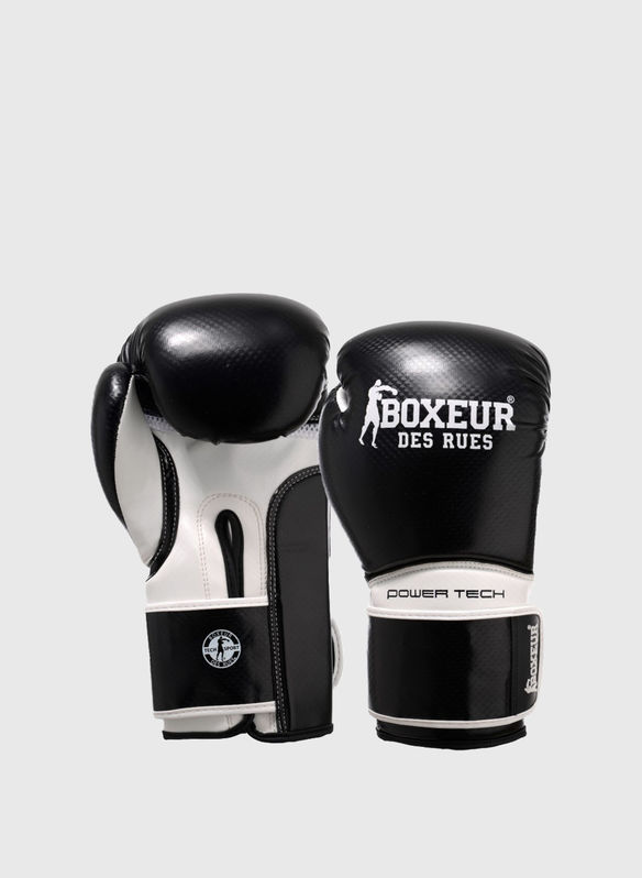 GUANTO BOXE POWER TECH 10OZ, BLK, medium