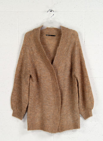 LOOSE KNITTED CARDIGAN, INDIAN TAN, small