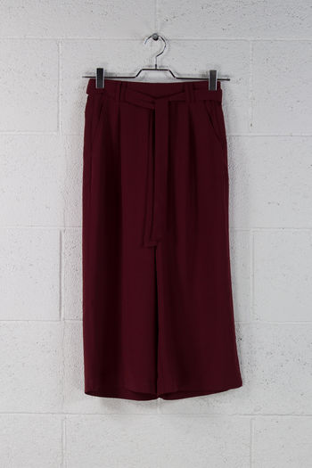 CROP PANTS IRUPI, BORDEAUX, small