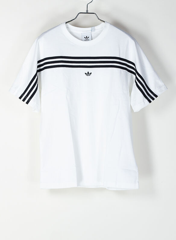 T-SHIRT 3-STRIPES, WHTBLK, medium