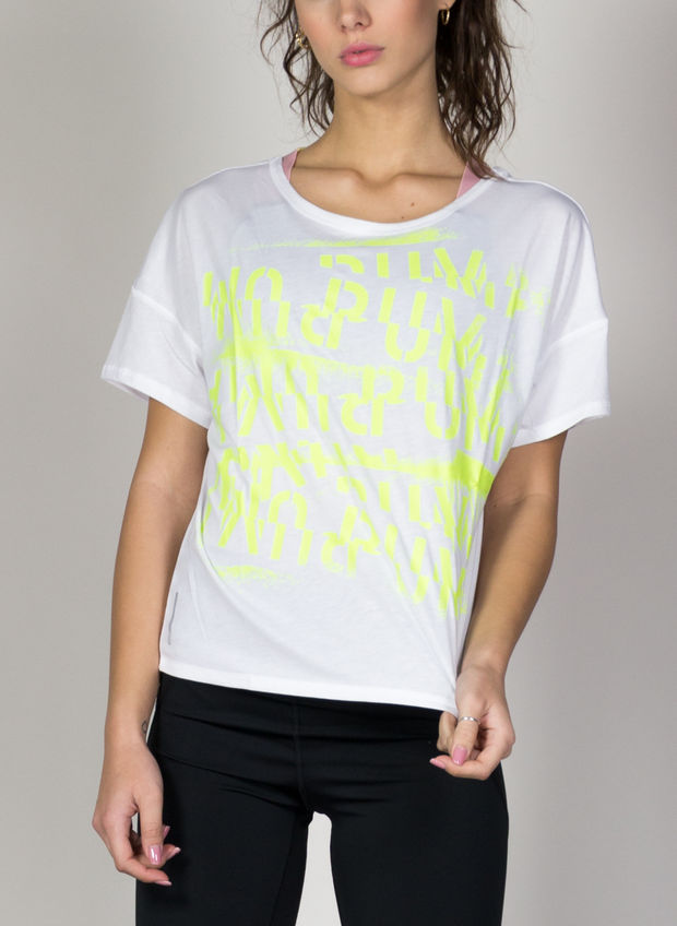 T-SHIRT TRAINING HIT FEEL IT, 05WHTLIME, large