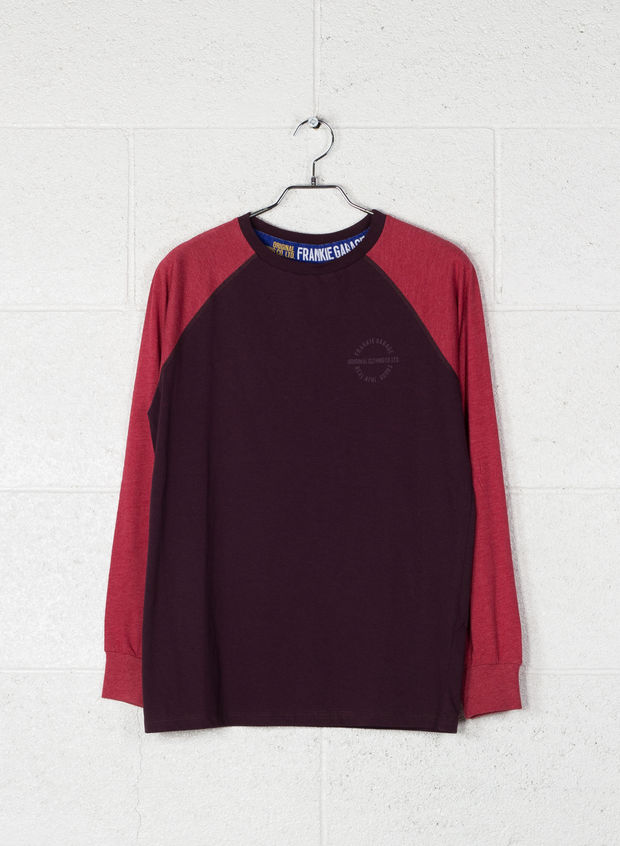 T-SHIRT STAMPA SMALL, BURGUNDY, large