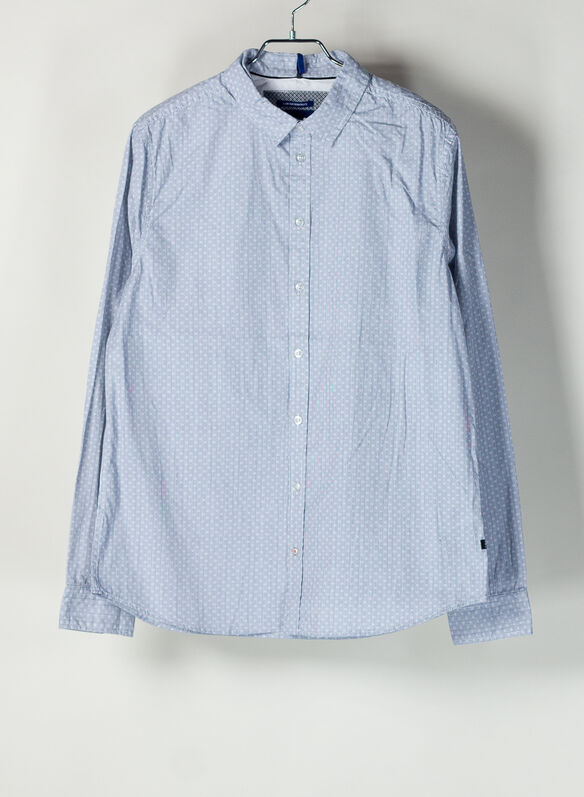 CAMICIA MICRO FANTASIA, 194118DARK DENIM, medium