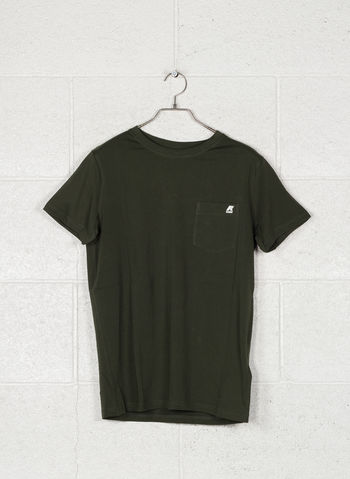 T-SHIRT CON TASCHINO, 576GREEN, small