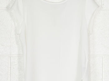 BLUSA LOOSE SHORT SLEEVED TOP, CLOUD WHT, small